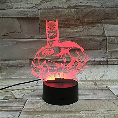 Illusion Lamp, 3D Acrylic Justice League Batman Pattern Atmosphere Light