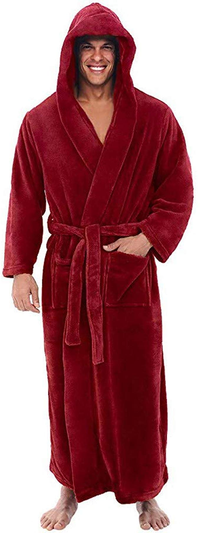 Topassion Men's Winter Plush Shawl