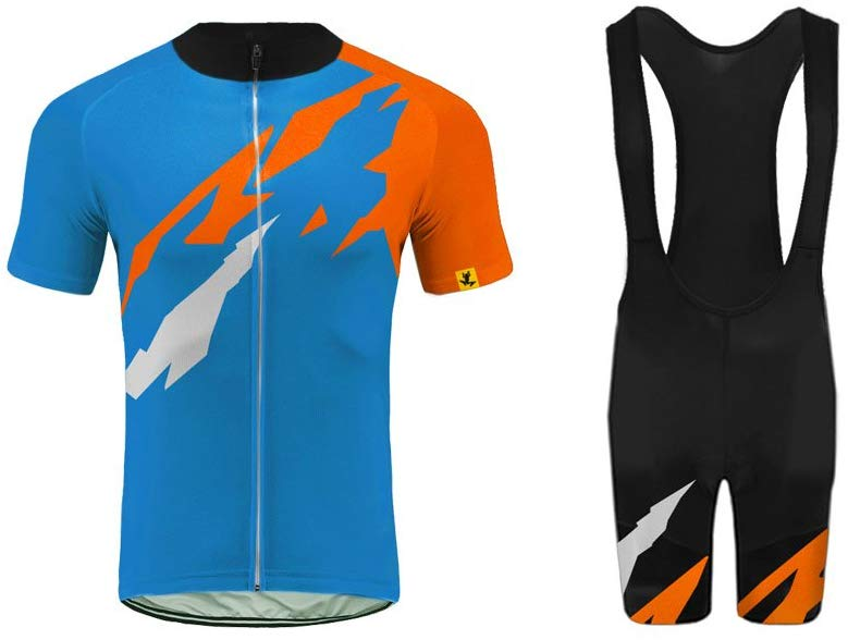 These are perfect cycling jerseys and shorts set are made of high elasticity fabric that absorbs moisture, eliminate perspiration and dries quickly. The jerseys are available in different sizes, you have to choose your size carefully.