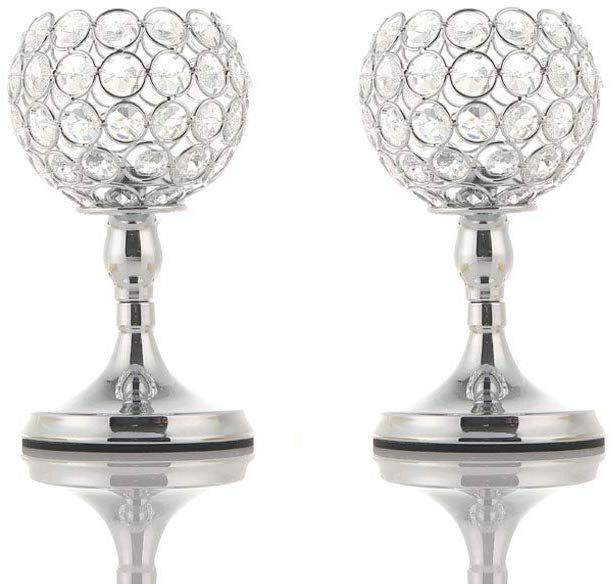 Silver Crystal Candle Holder - 25th anniversary gifts for couples