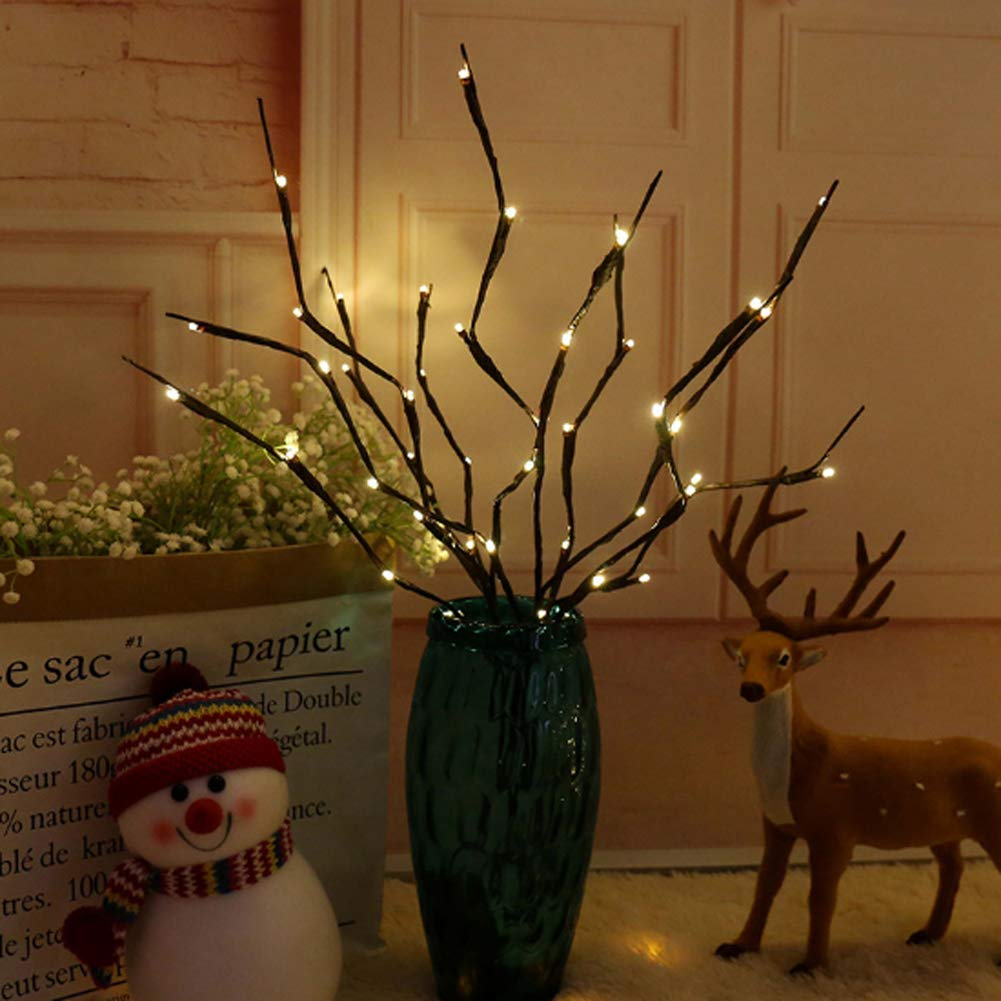 3 Pack Warm White Lighted Twig Branches