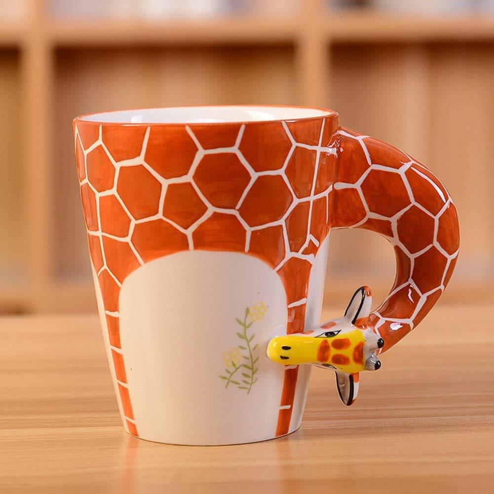 HapiLeap 3D Pure Hand-Painted Cute Animal Ceramic Coffee Mug