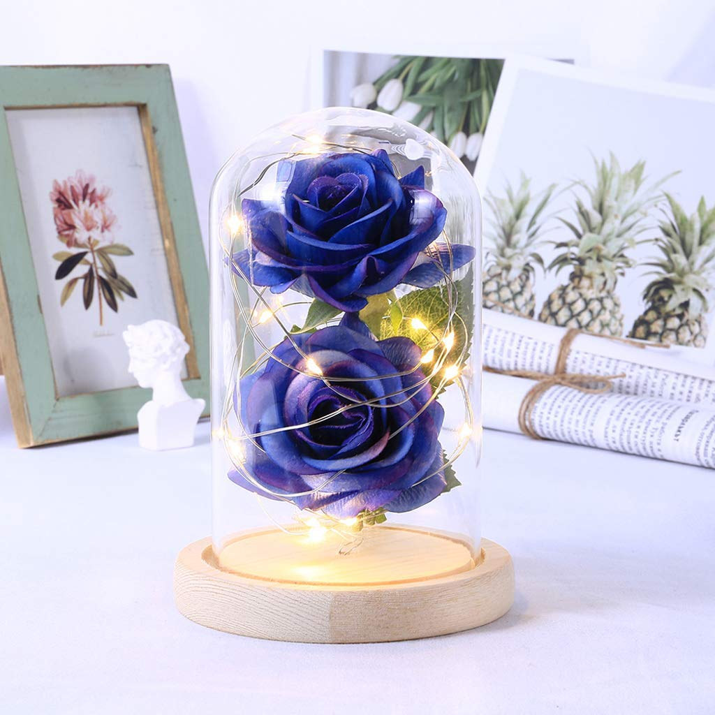 Haven Shop Forever Rose Flower in Glass