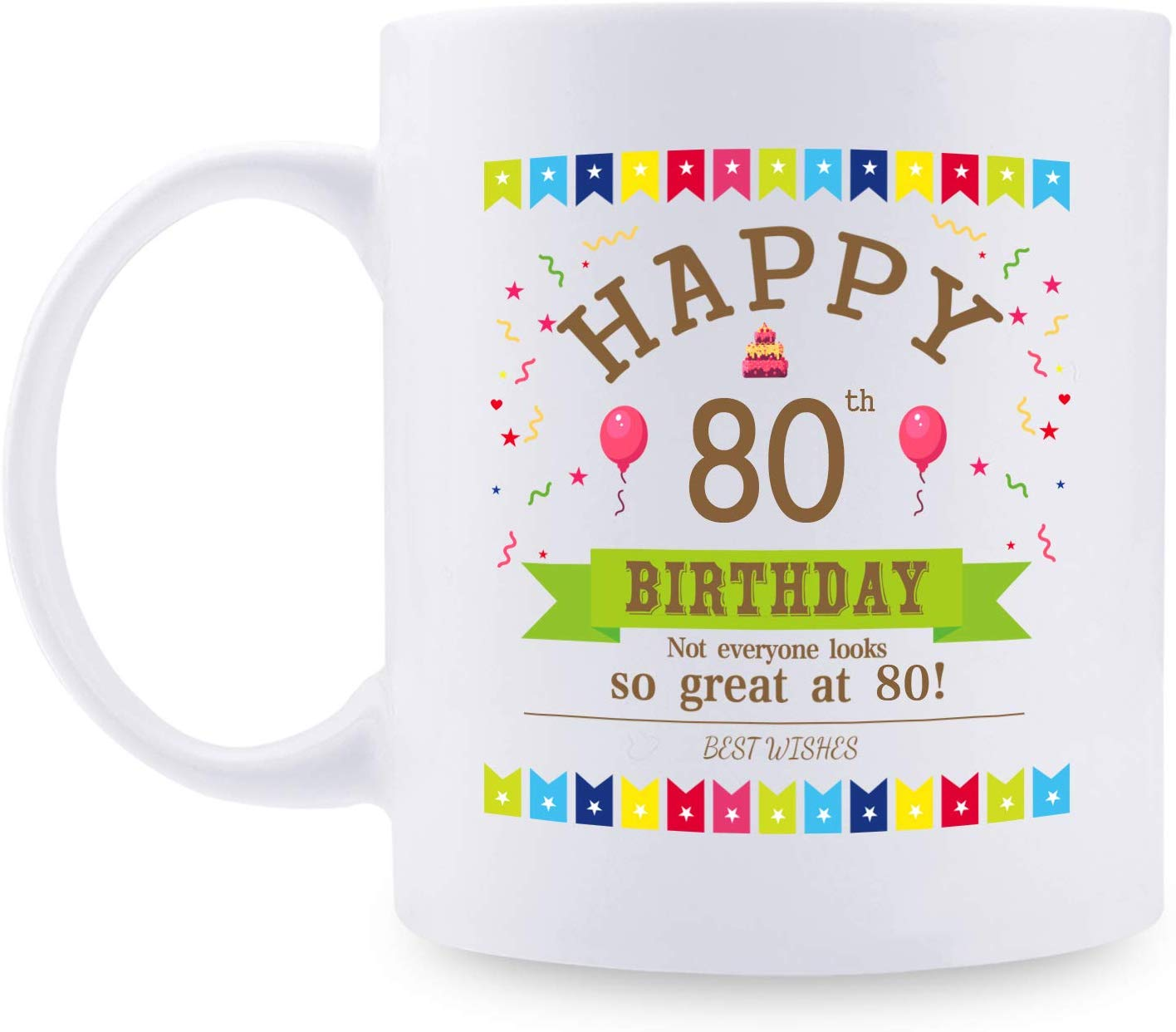 80 Years Old Birthday Gifts Coffee Mug for Mom, Wife, Friend, Sister, Her, Colleague