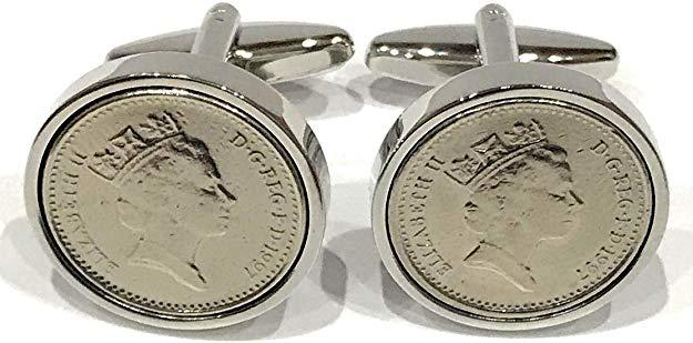 Silver birthday/Anniversary 1994 Coin cufflinks