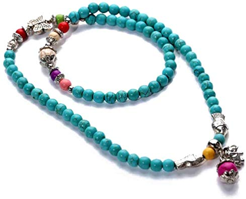 Hand-Made Gift Multi Turquoise Vintage Tibetan Sliver Fish Necklace or Bracelet