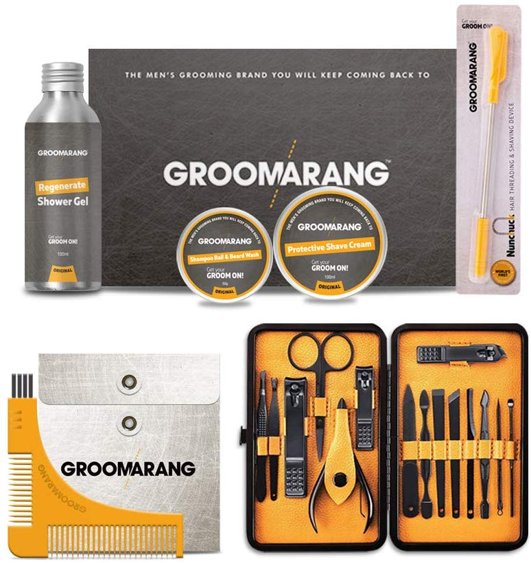 Groomarang 20pc Male Grooming Kit