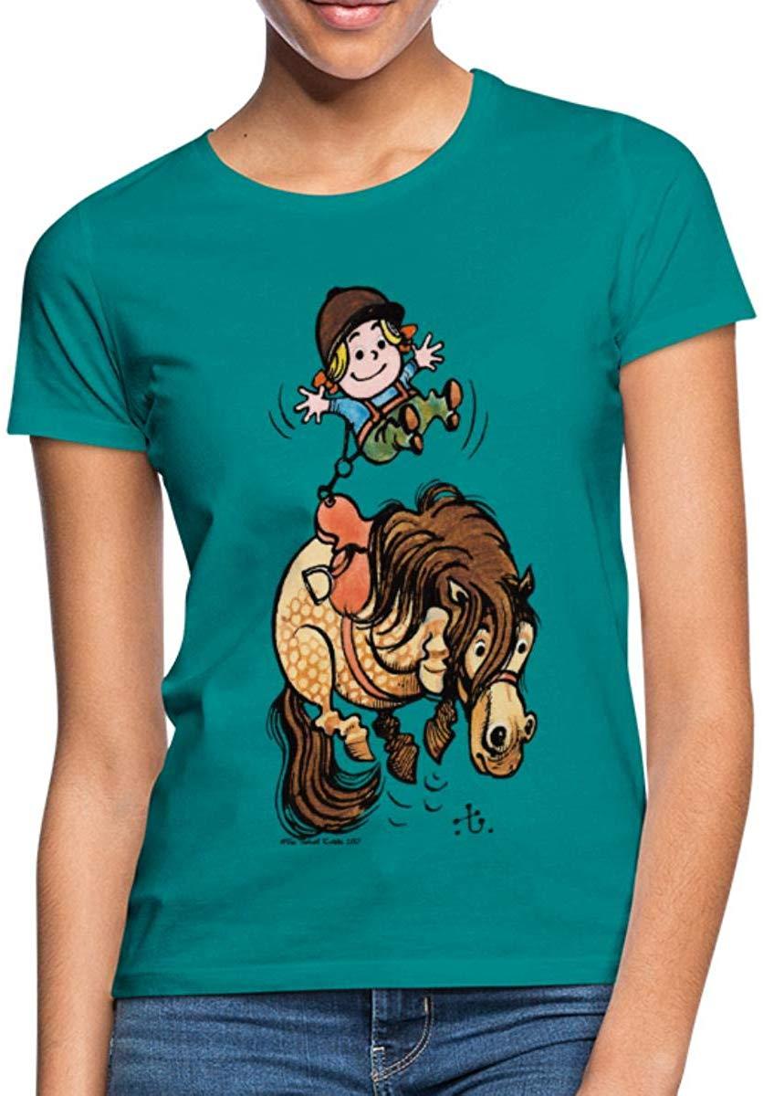 Thelwell Funny Illustration Bucking Horse Women's T-Shirt