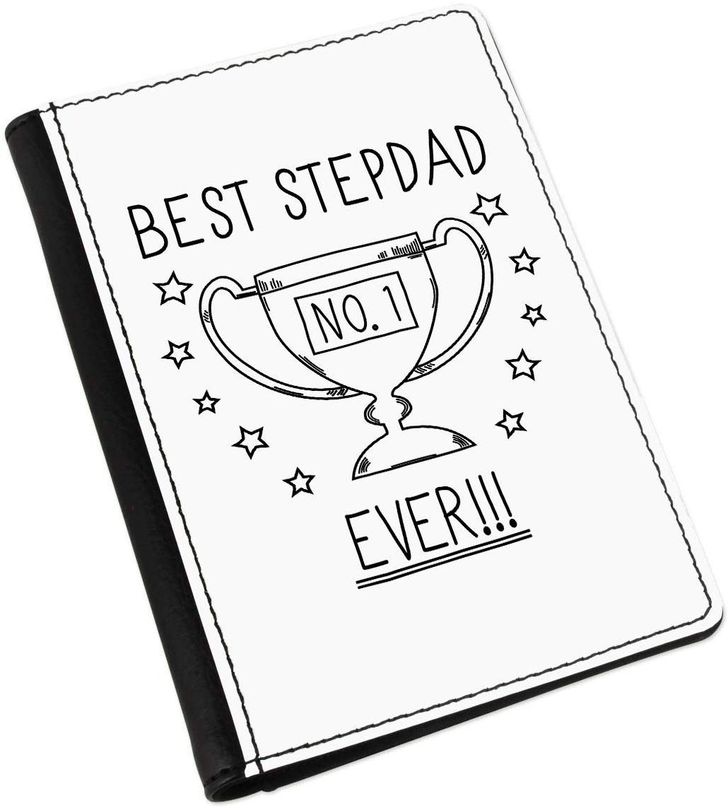 Best Stepdad Ever No.1 Trophy Passport Holder Cover