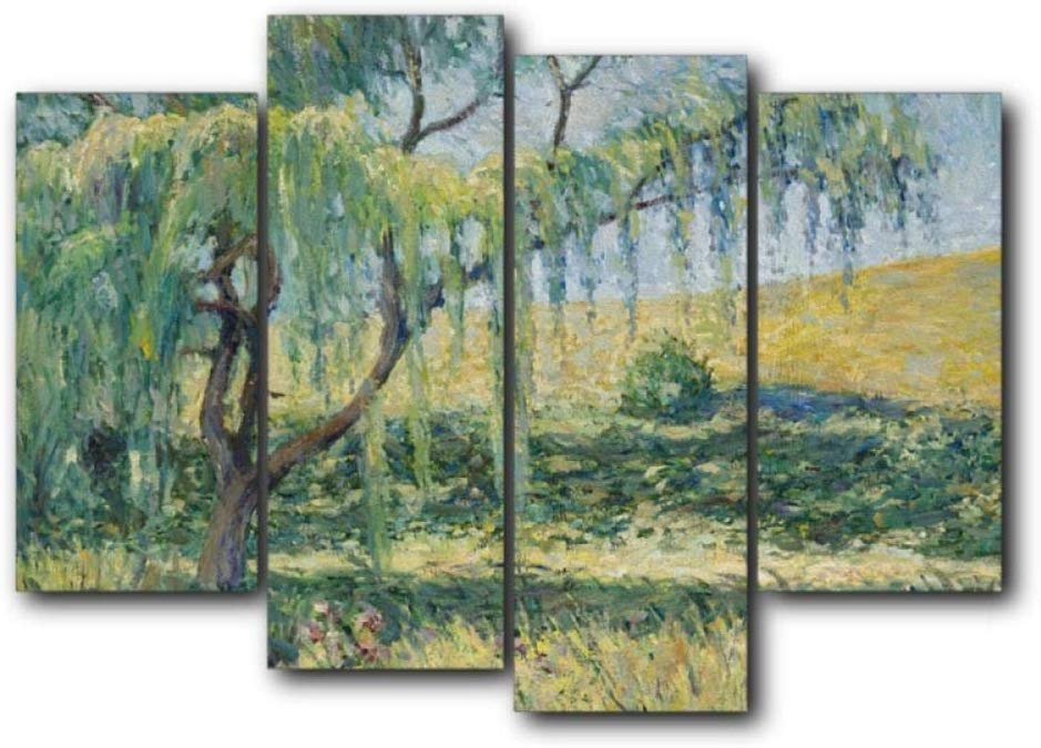 4 Groups of Modern Abstract Spring Willow Canvas Painting