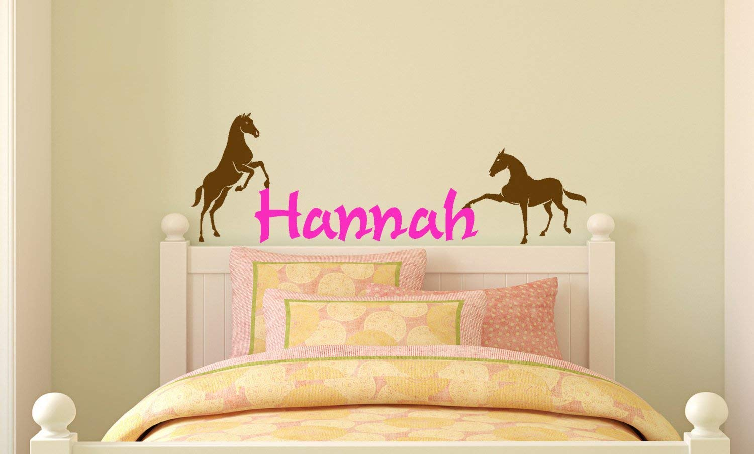 Girls Personalized Horse Wall Decal