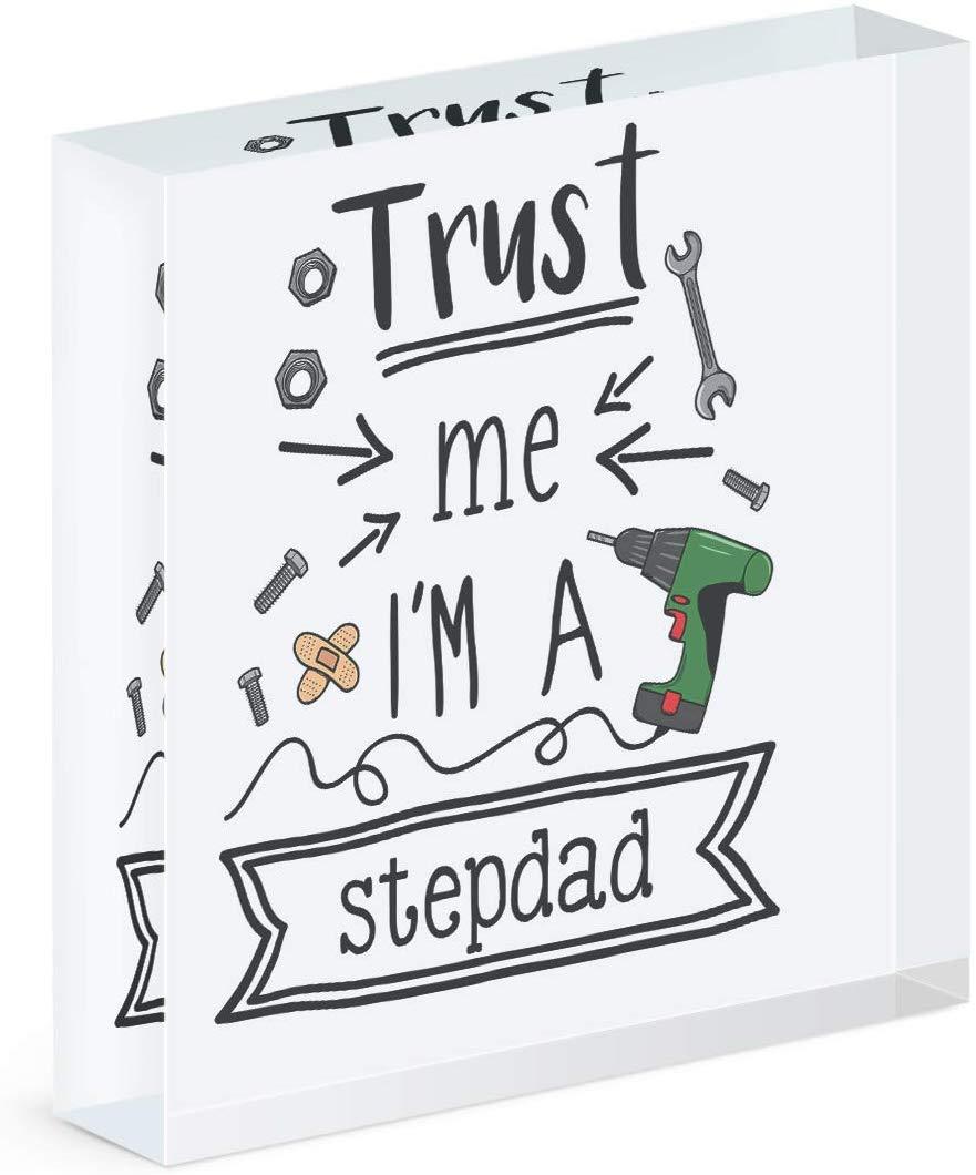 Gift Base Trust Me I'm A Stepdad Acrylic Block Photo Frame
