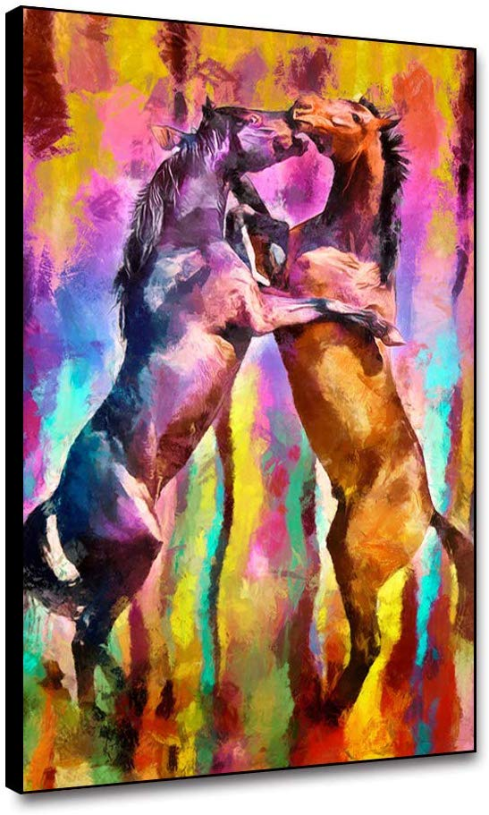 Horse Art Framed Canvas Painting