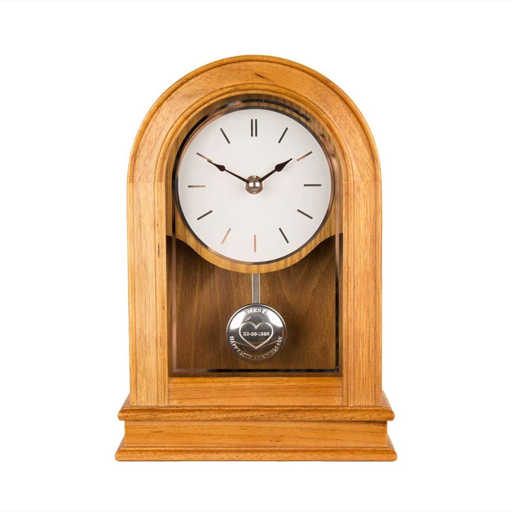Personalised Oak 40th Anniversary Clock