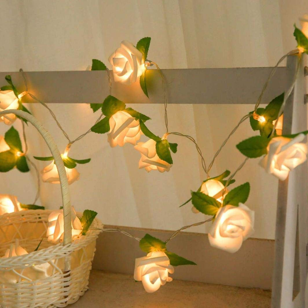 Rose LED Window Curtain Lights String Lamp