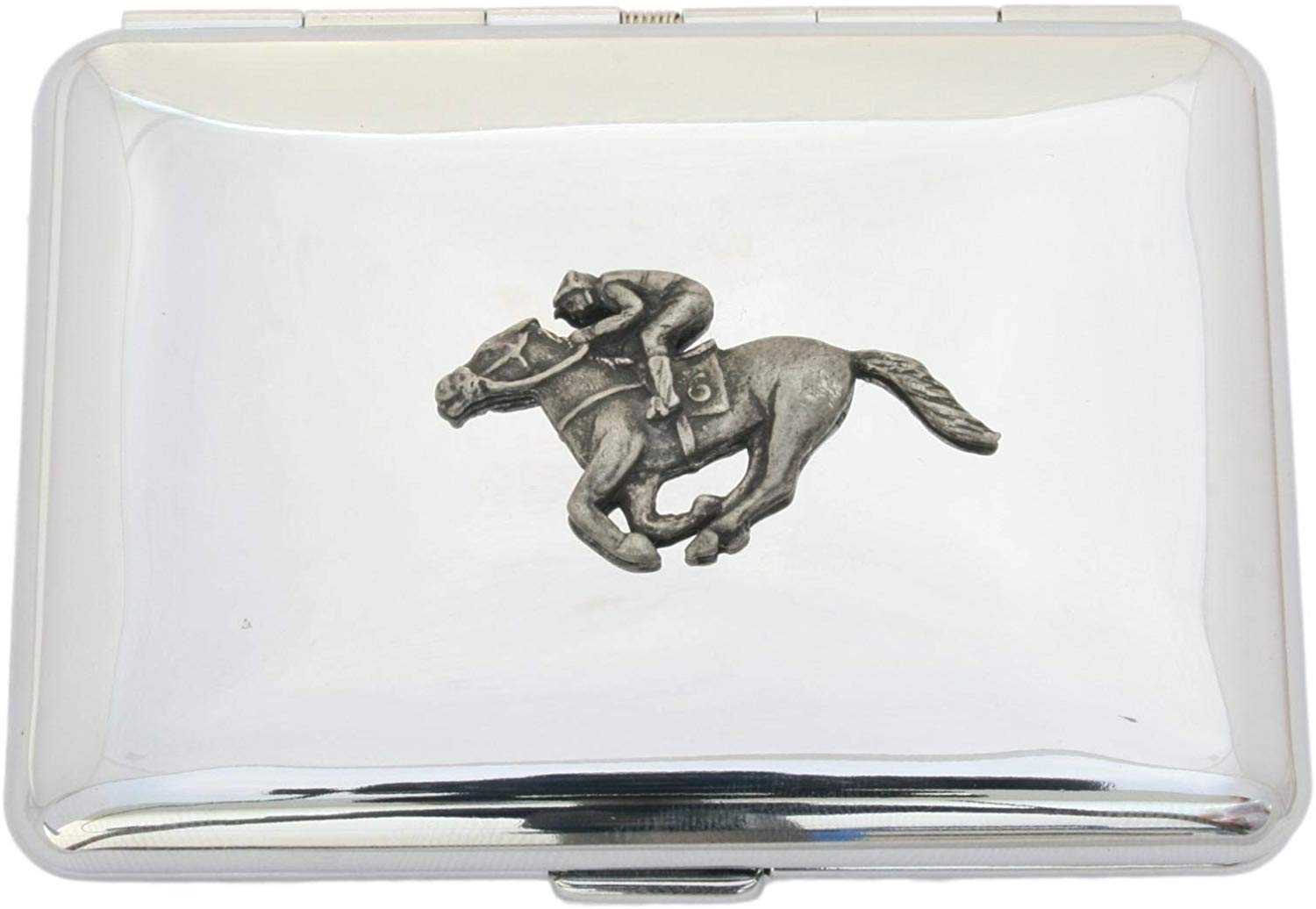 Horse Racing Cigarette Case with Free Engraving Smokers Gift