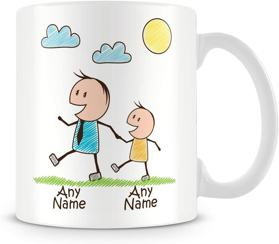 Buy Cool Daddy Mug with Child and Names @ www.gifthome.co.uk