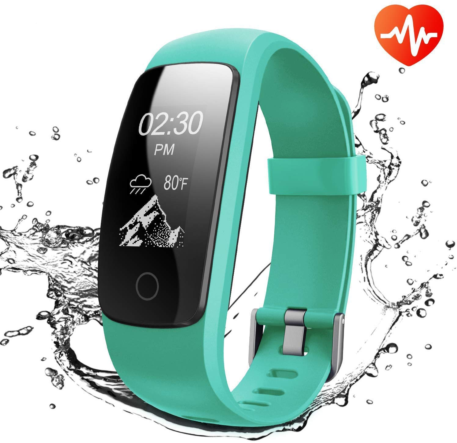 Runme Fitness Tracker, Activity Tracker with Heart Rate and Sleep Monitor