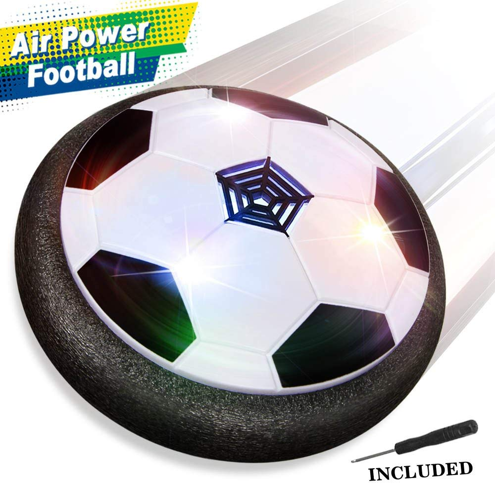 Kids Toys Air Power Soccer Ball Games with Soft Foam Bumpers and Colorful LED Lights