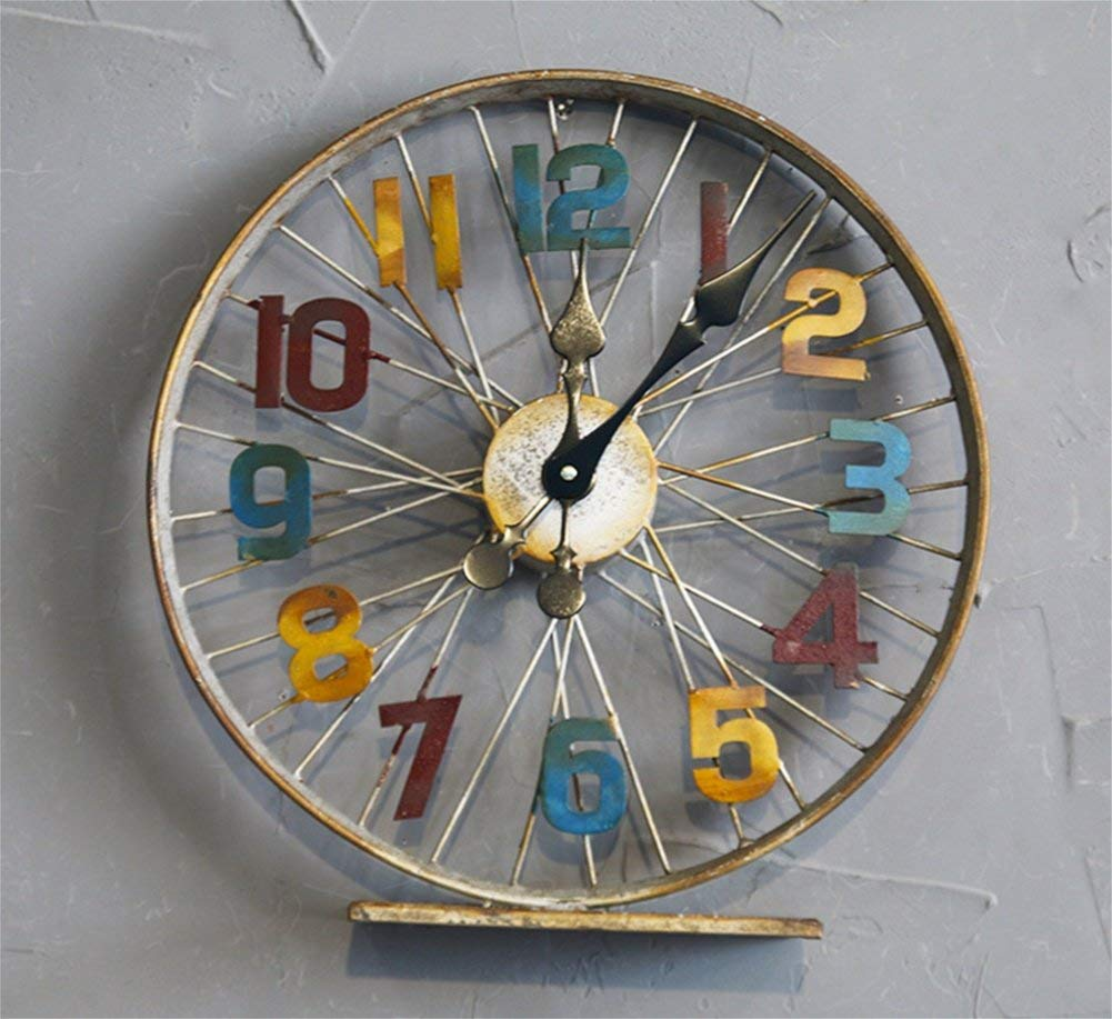 Bicycle Wheel Iron Wall Clock