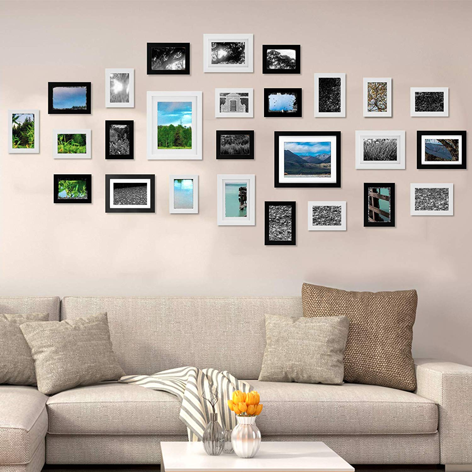 Multi Picture Frames Set of 26 Photo Frames Wall Set