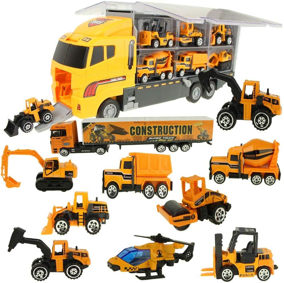 Jenilily Mini Engineering Construction Vehicles Cars Toy Trucks