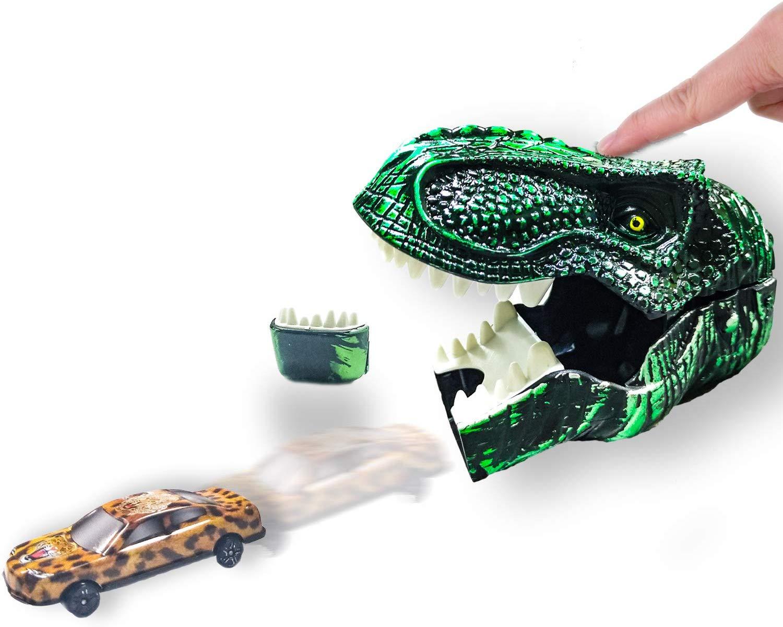 HongMe Dinosaur Toys Head Shooting Mini Racers Cars Launcher