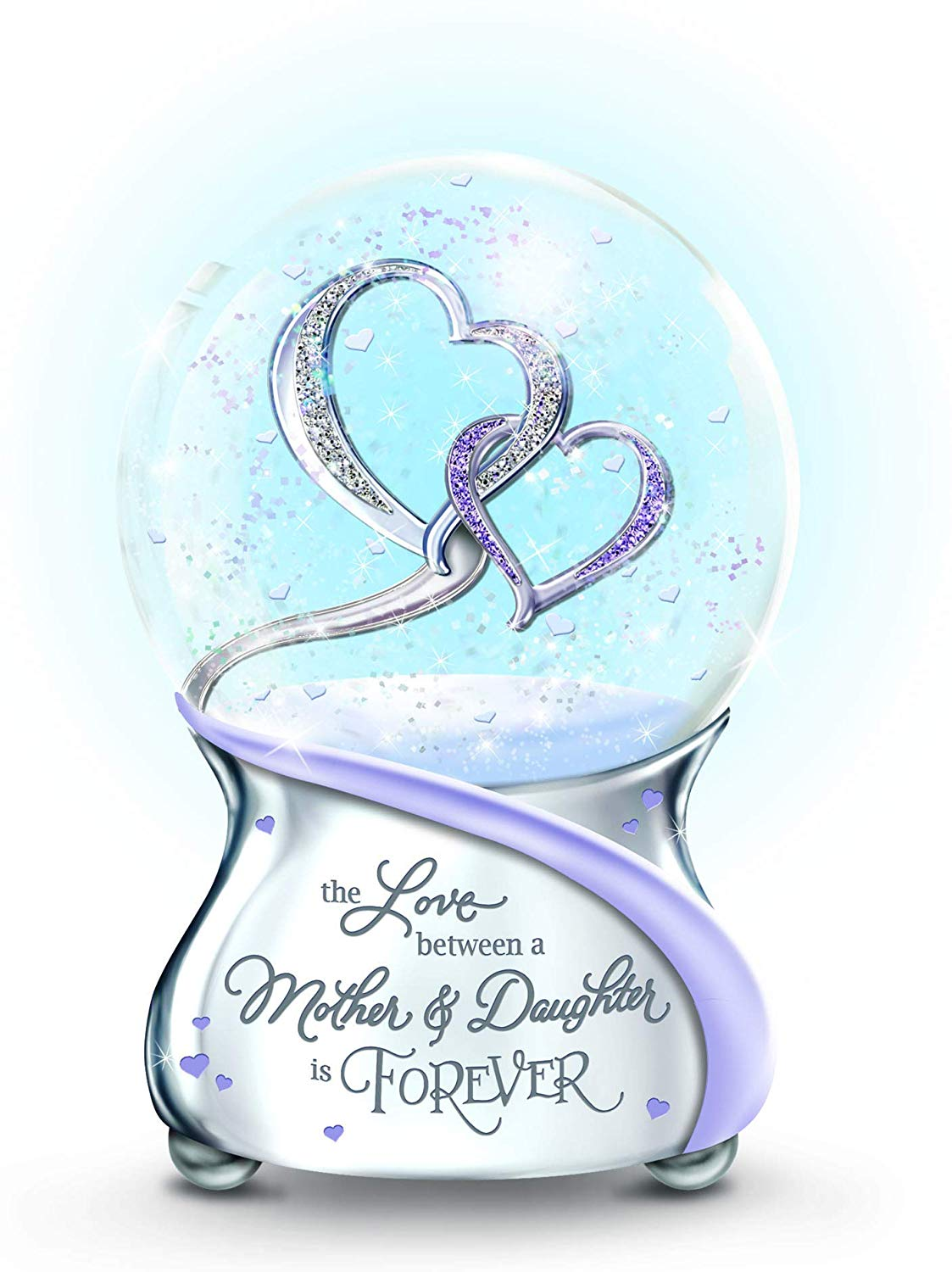 The Bradford Exchange 'Love Between Mother And Daughter Is Forever' Glitter Globe