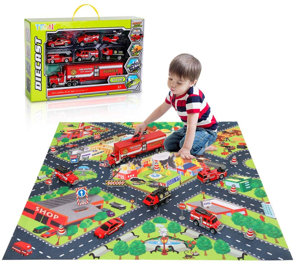 Diecast Emergency Fire Rescue Vehicle Toy Set