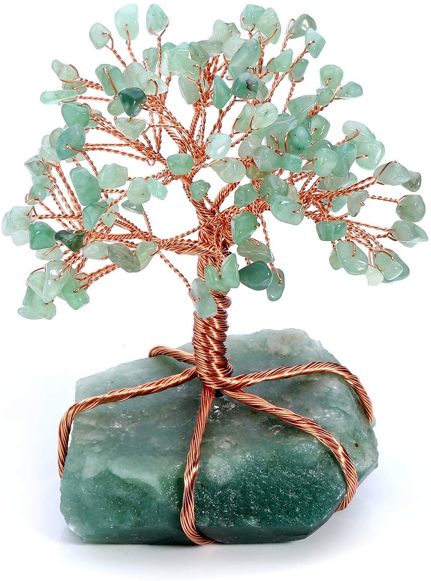 Natural Crystal Tumbled Stones Tree of Life Ornament