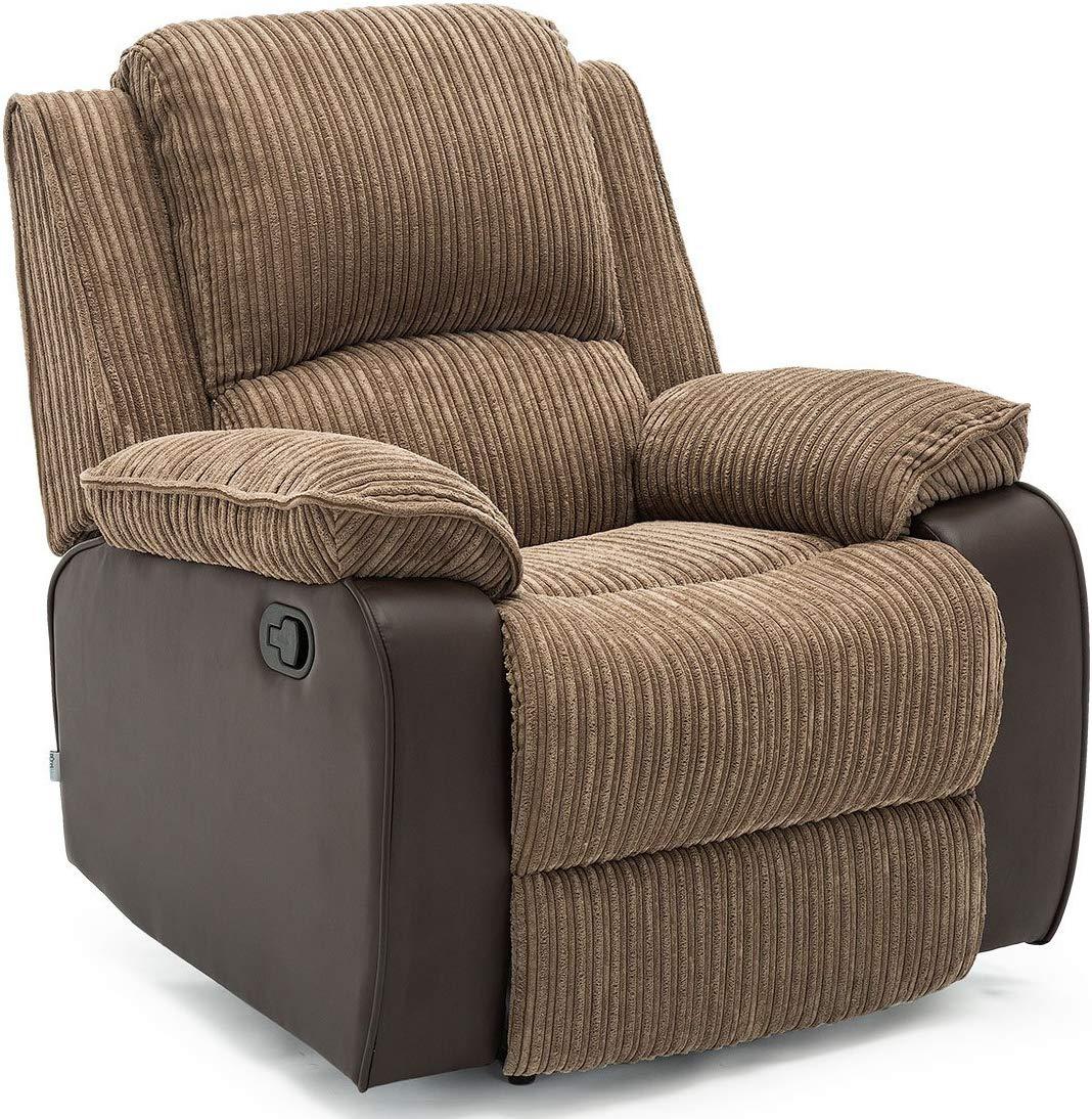 Jumbo Cord Fabric Recliner Armchair Sofa