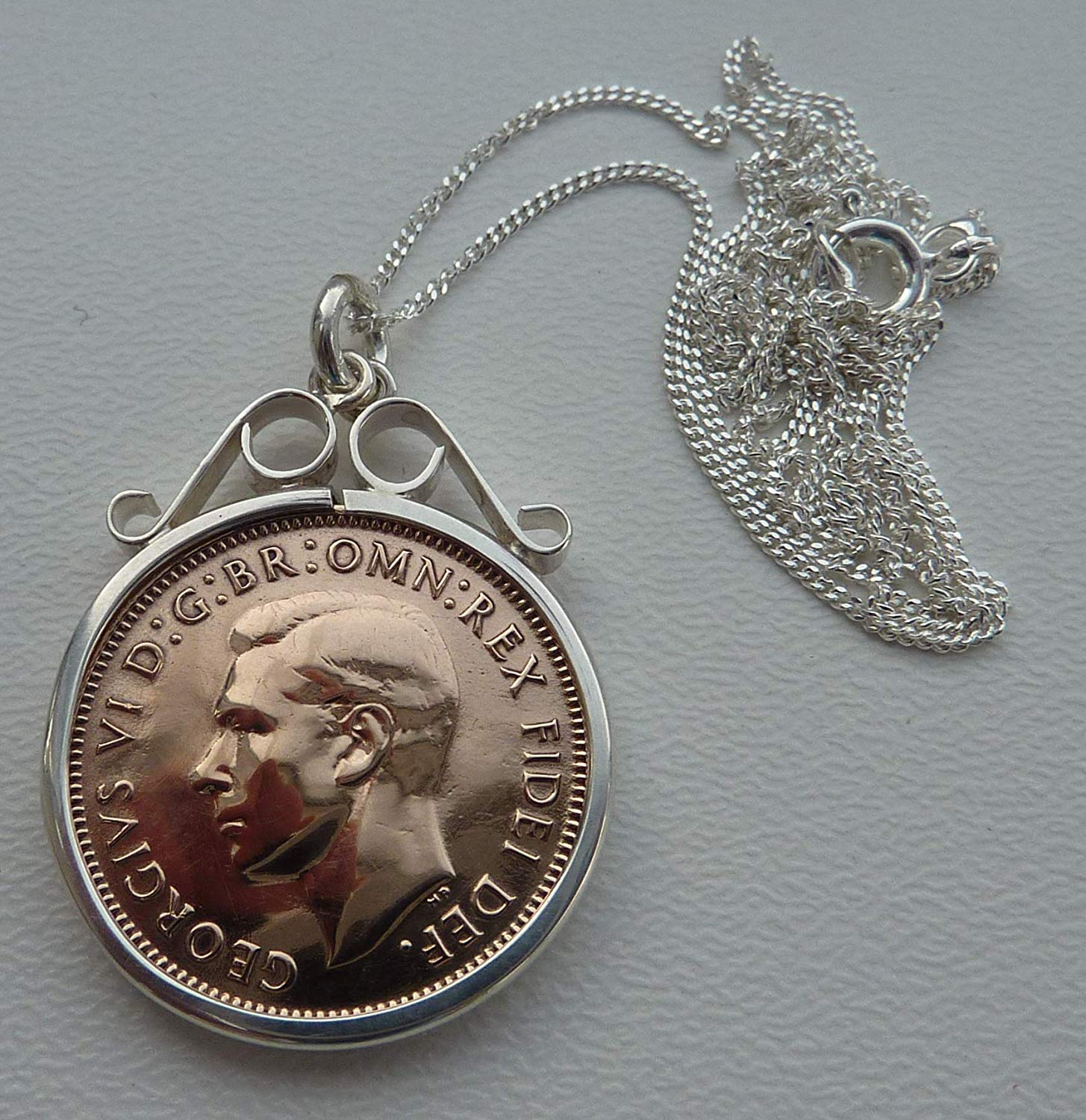 Beautiful Wren Farthing Necklace