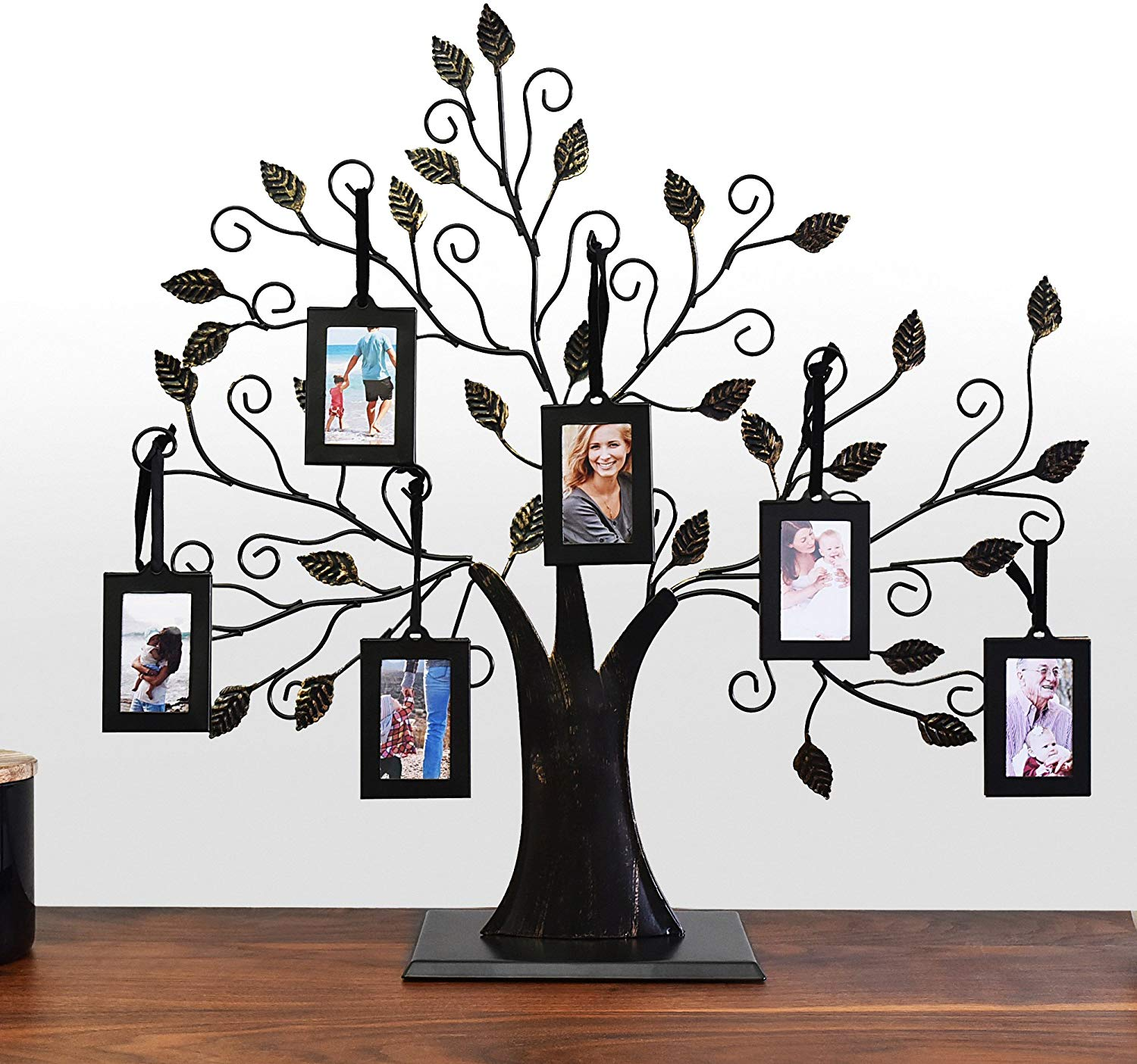 Thetford Design Family Tree Photo Frame with 6 Hanging Picture Frames