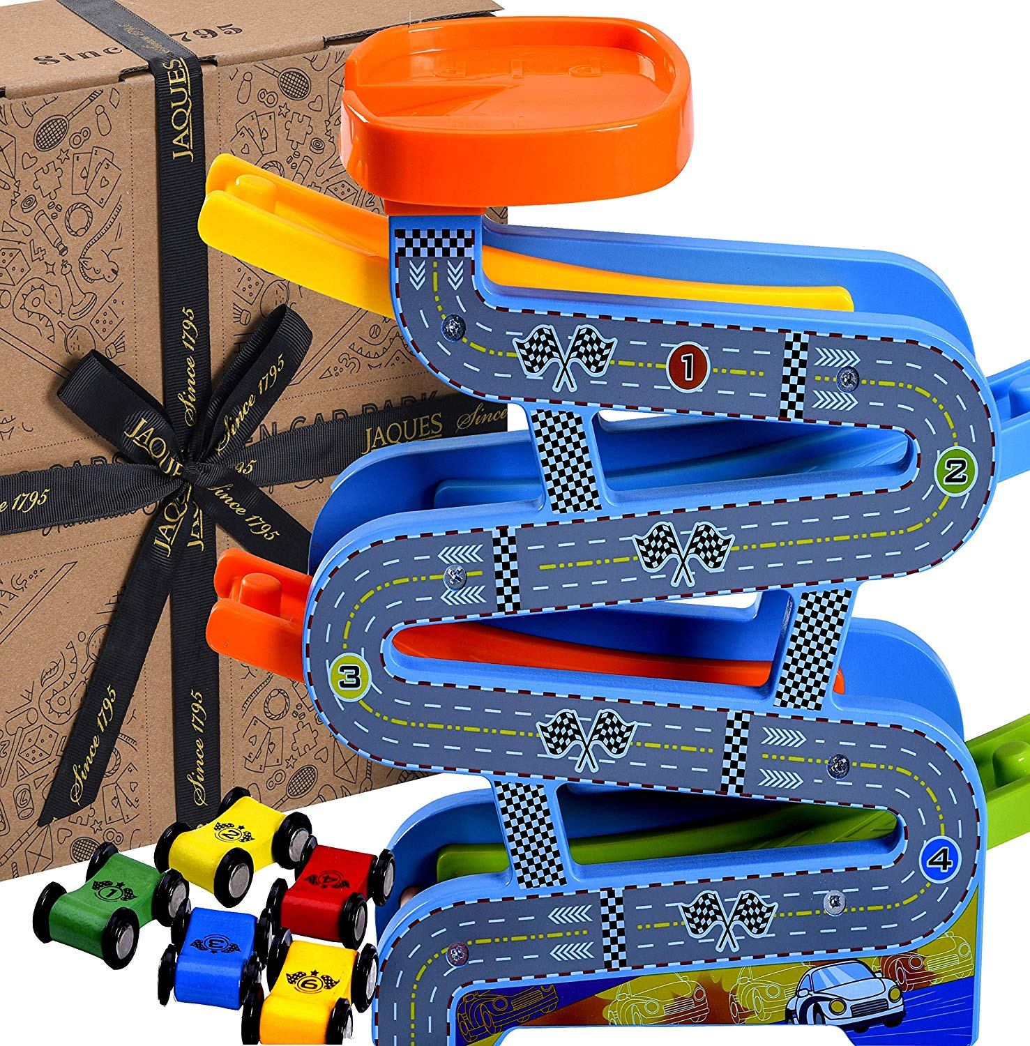 Jaques of London Wooden Toys Carpark Perfect toddler toys
