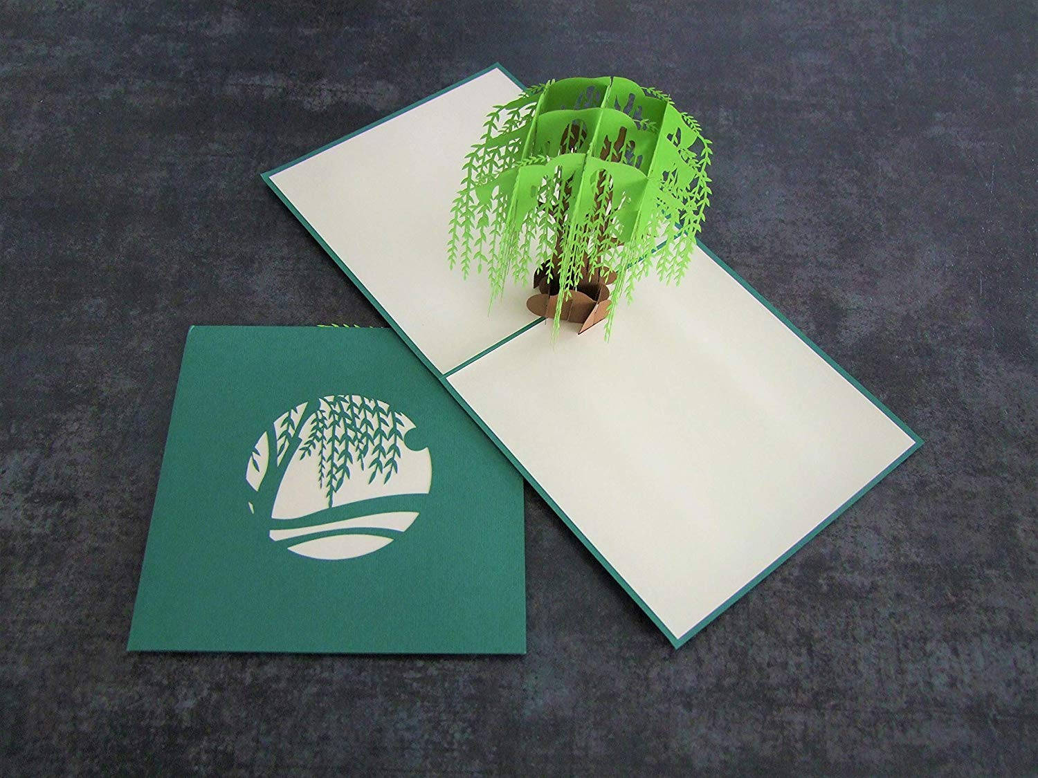 Willow Tree Big 3D Pop Up Greeting Card Handmade