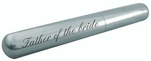 Engraved Father of the bride cigar tube