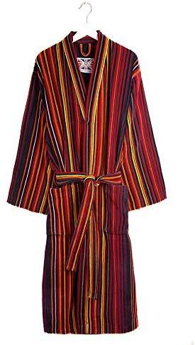 Cotton Plush Shawl Collar Dressing Gown