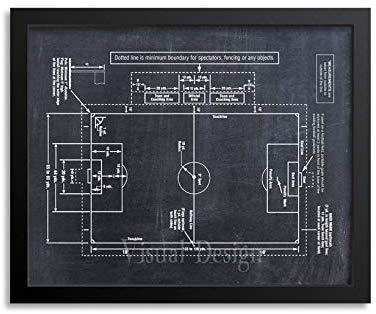 Soccer Coach Gift Soccer Decor Soccer Field Diagram