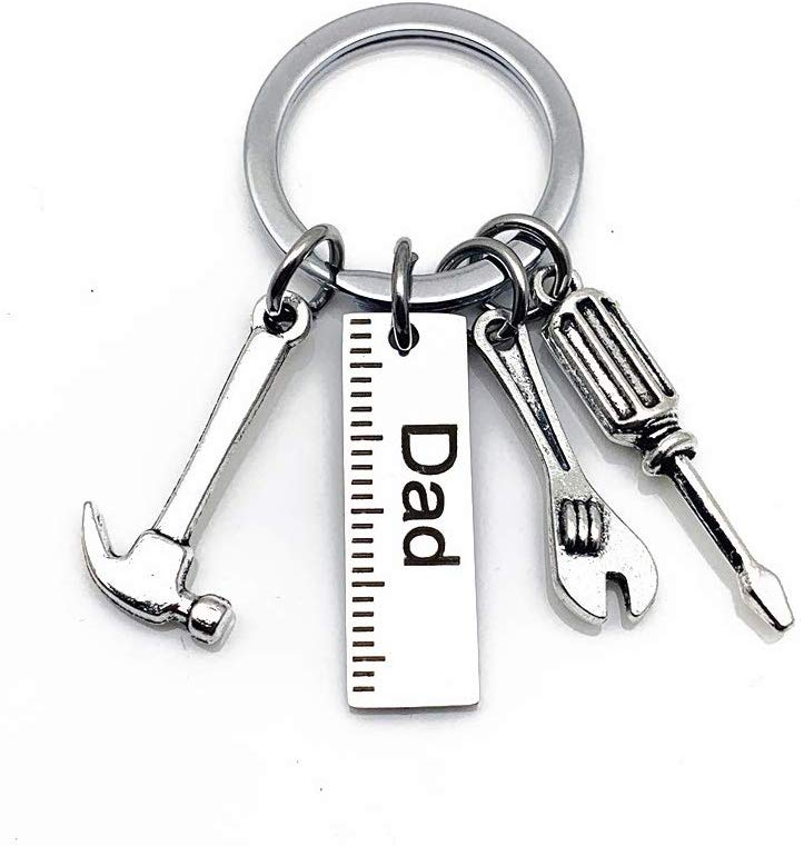 Stainless Steel Keychain, Hammer Screwdriver Wrench Tools