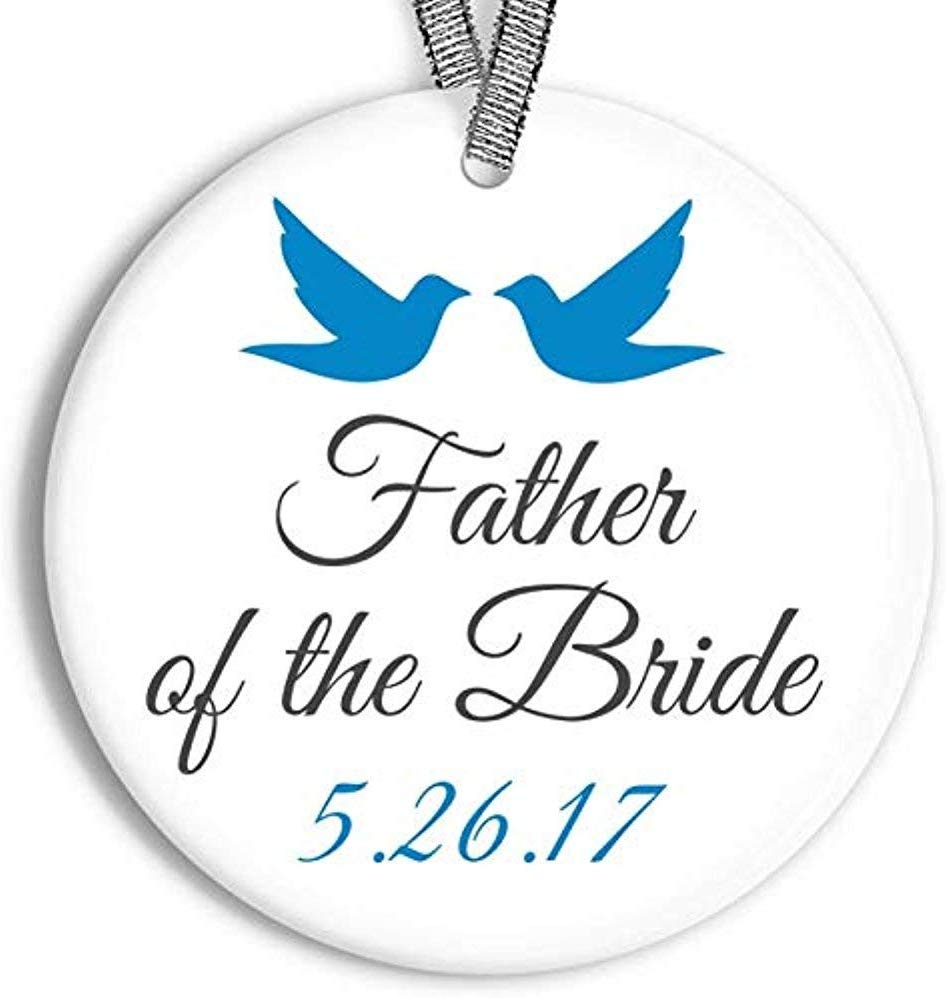 Father of The Bride Wedding Favor Keepsake Ornament Personalized