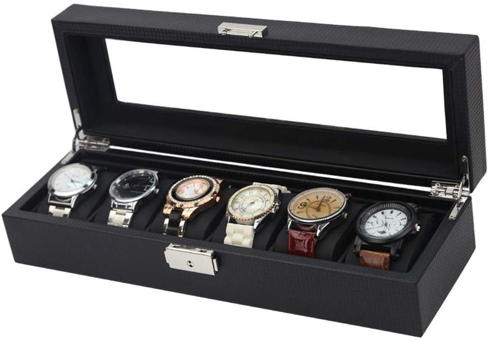 Watch Box Leather Storage Box for 6 Watches