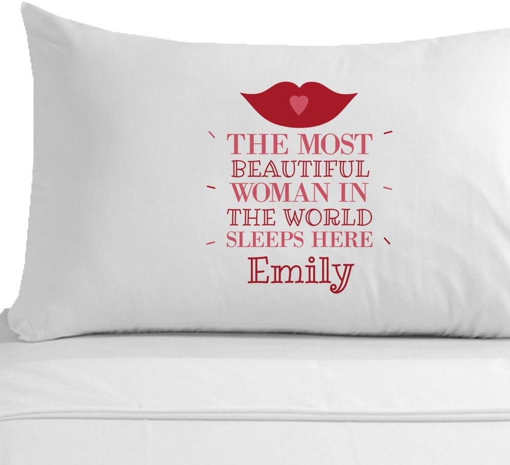Personalised Most Beautiful Woman In The World Pillowcase