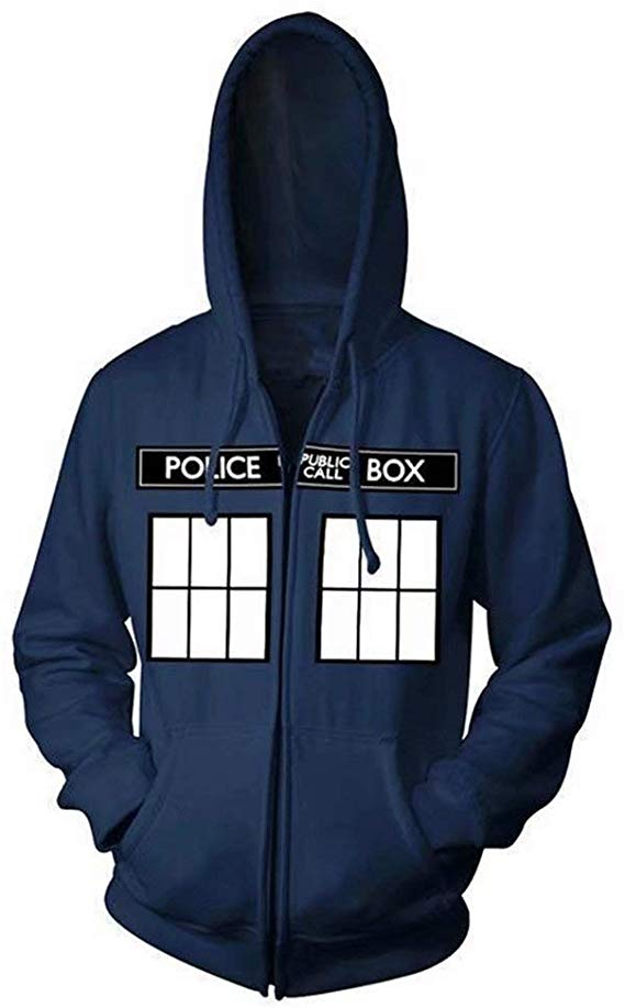 3D Print Novelty Hoodie for Adult Kids Inspired Doctor Who