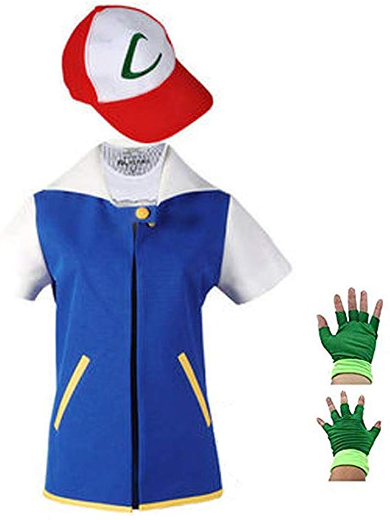 Costume Hoodie Cosplay Jacket Gloves Hat Sets for Trainer