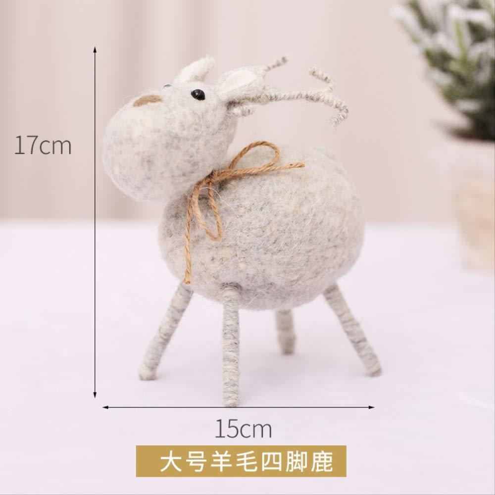 Christmas Decorations Wool Mini Dolls