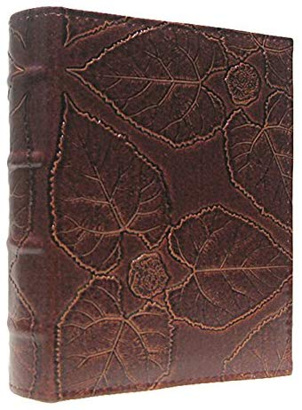 Pocket Vintage Maple Leaves Leather Photo Albums