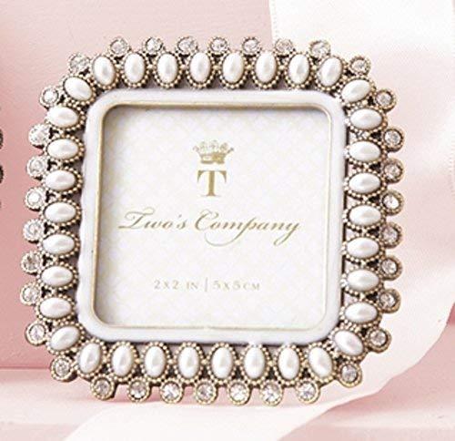 Two's Company Precious Pearls & Crystals Mini Photo Frame in pretty gift box