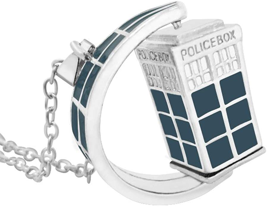 Kabuso Jewels The Doctor Spinning Tardis Necklace