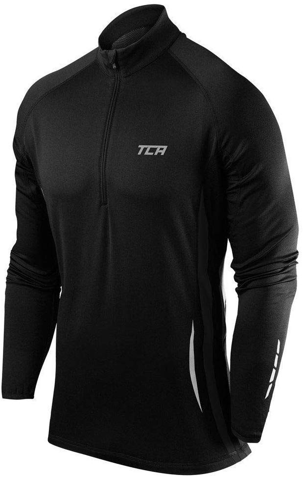 Men's Winter Run Half-Zip Long Sleeve Running Top