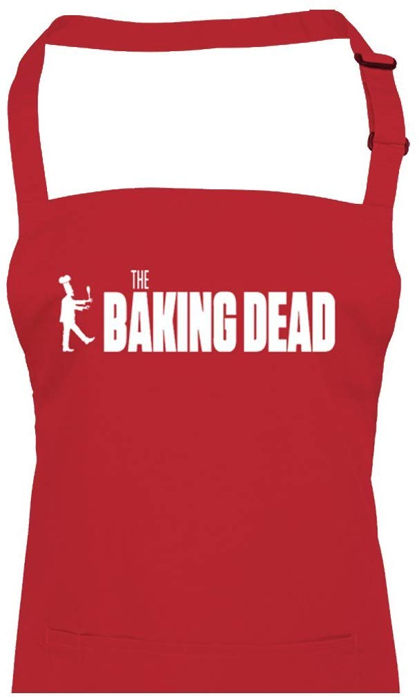 BAKING DEAD- Zombie Series inspired funny parody unisex kitchen chef's apron from Fat Cuckoo